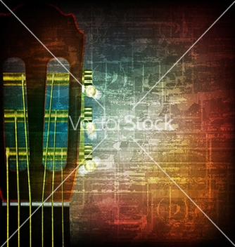 Free abstract music grunge vintage background acoustic vector - Free vector #234023
