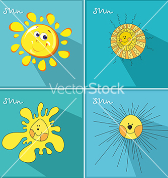 Free icons with the sun vector - vector gratuit #234103