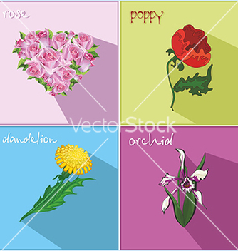 Free icons with flowers vector - vector gratuit #234113