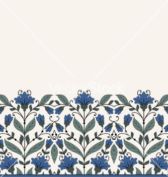 Free invitation card with floral ornament vector - бесплатный vector #234253