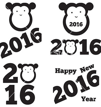Free set of 2016 year vector - Kostenloses vector #234333
