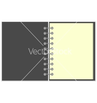 Free open empty notebook with grey cover vector - vector gratuit #234493