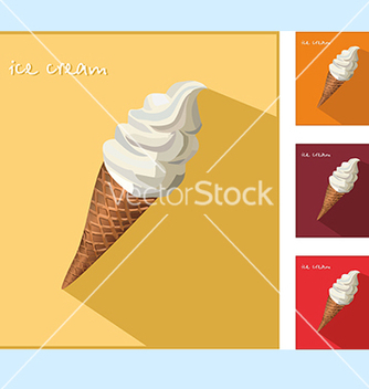 Free icon with ice cream vector - бесплатный vector #234583