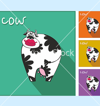 Free icon with a cow vector - vector gratuit #234593