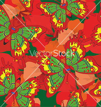 Free pattern with butterflies and flowers vector - бесплатный vector #234633