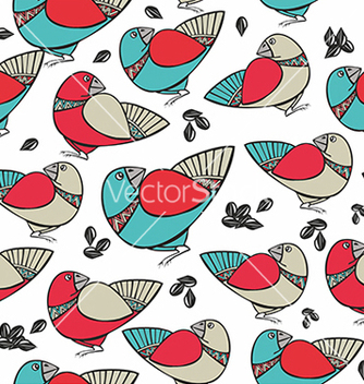 Free pattern with birds and seeds vector - vector gratuit #234643