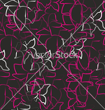 Free pattern with abstract flowers on a black vector - vector gratuit #234663