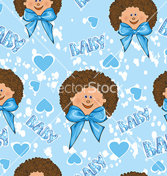 Free pattern for a boy on a blue background vector - Free vector #234673
