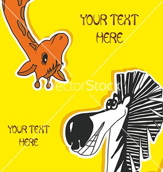 Free baby card with zebra and giraffe vector - vector #234693 gratis