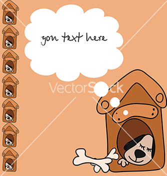 Free baby card with a dog for text vector - vector #234703 gratis