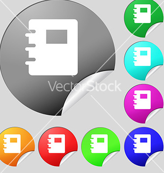 Free book icon sign set of eight multicolored round vector - Kostenloses vector #234813