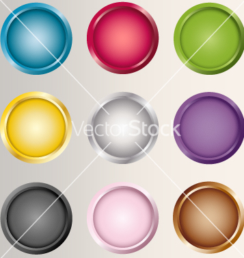 Free buttons icons set various colors vector - Free vector #234933