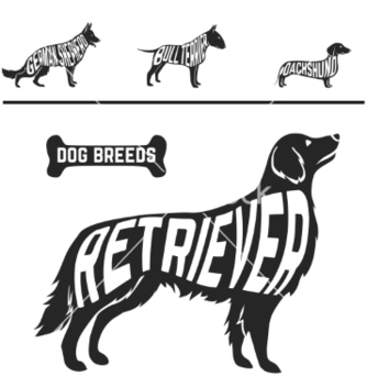 Free set of different dog breeds silhouettes isolated vector - vector #234963 gratis