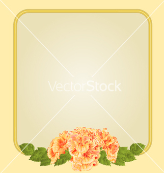 Free golden frame with yellow hibiscus greeting card vector - Free vector #235003