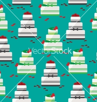 Free wedding cake seamless background vector - Kostenloses vector #235073
