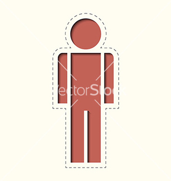 Free paper clipped sticker man vector - Kostenloses vector #235143