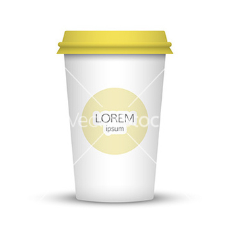 Free blank coffee cup to represent your desing vector - vector gratuit #235153