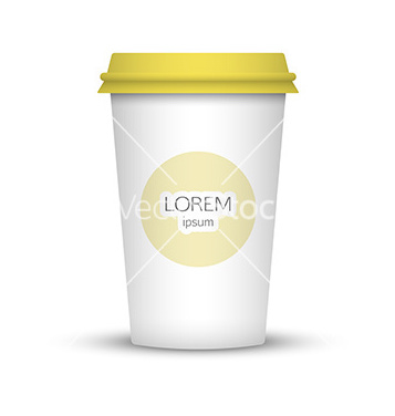 Free blank coffee cup to represent your desing vector - Free vector #235153