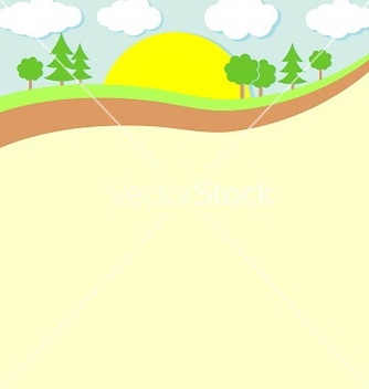 Free background nature green trees and clouds vector - Free vector #235183