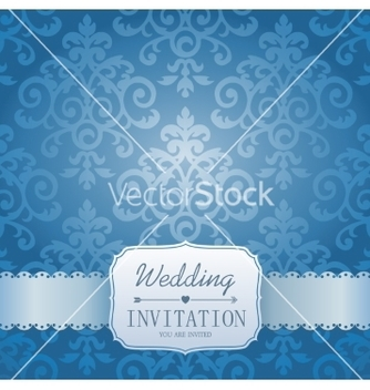 Free ornate damask background invitation to the vector - Free vector #235273