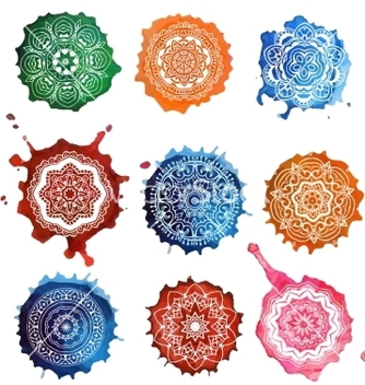 Free mandala card watercolor vector - бесплатный vector #235363