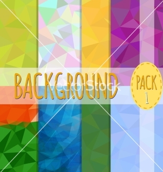 Free set of polygonal backgrounds 8 various vector - Free vector #235383