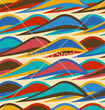 Free vintage seamless pattern with colorful waves vector - vector #235393 gratis