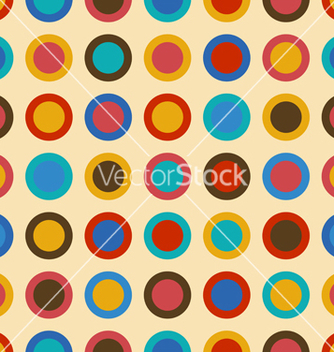 Free vintage seamless pattern with colorful circles vector - бесплатный vector #235403