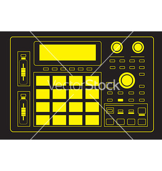Free mpc drum machine vector - vector gratuit #235453