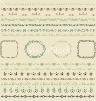 Free hand drawn borders and frames vector - бесплатный vector #235513