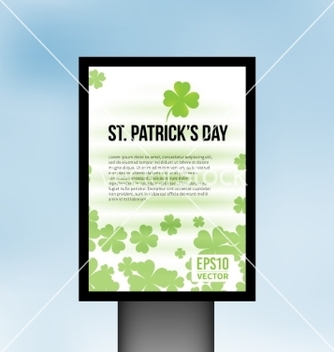 Free saint patrick day light board background vector - Free vector #235593