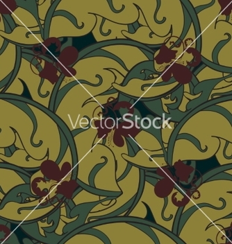 Free seamless symmetrical floral ornament vector - Free vector #235603