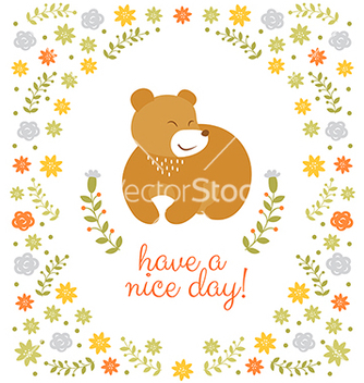 Free cute little bear summer vector - бесплатный vector #235623