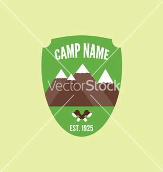 Free camping mountain logo with axe colorful labels and vector - Free vector #235813