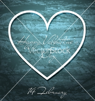 Free valentines day grunge background with white heart vector - Kostenloses vector #235883