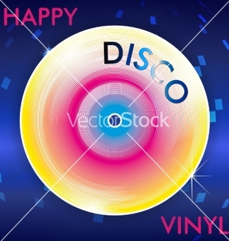 Free retro disco vinil vector - бесплатный vector #235893