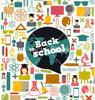 Free back to school background design vector - vector gratuit #235903