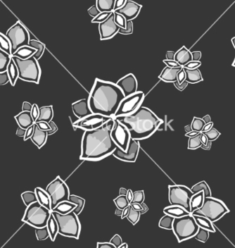 Free magnolia seamless monochrome pattern on dark vector - Kostenloses vector #235953