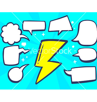 Free yellow lightning with speech comics bubbl vector - Free vector #236113
