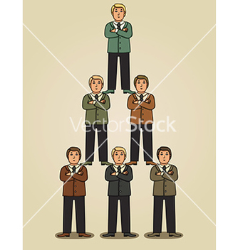 Free team work in business pyramid vector - Kostenloses vector #236203