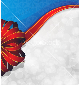 Free greeting card with red bow and ribbon vector - vector gratuit #236273