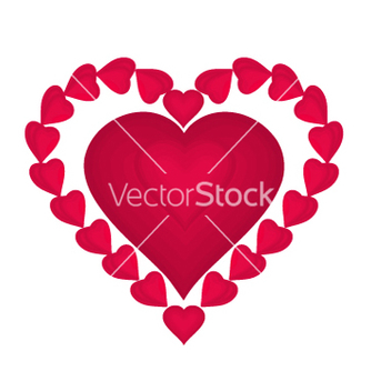 Free valentines day red hearts vector - Free vector #236363