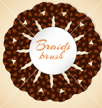 Free frame made from realistic brawn braids vector - бесплатный vector #236393