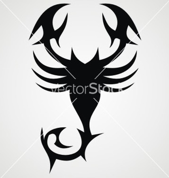 Free tribal black scorpion vector - Kostenloses vector #236423