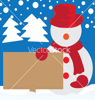 Free snowman cartoon vector - Kostenloses vector #236483