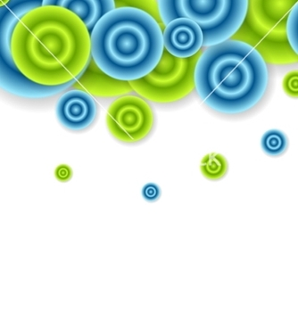Free bright abstract circles design vector - Free vector #236513