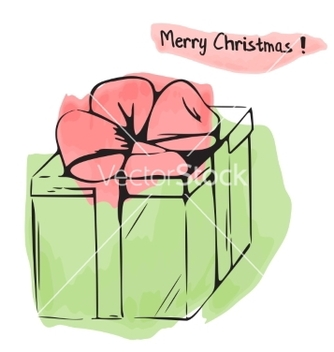 Free christmas of watercolor gift box vector - бесплатный vector #236583