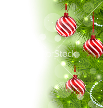 Free christmas glowing background with fir branches and vector - vector gratuit #236603
