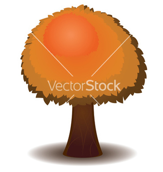 Free stylized autumn tree5 vector - Free vector #236643