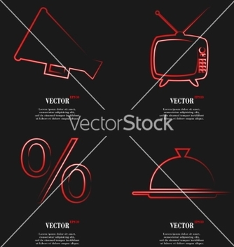 Free set of red web icon flat design simple sticker vector - Kostenloses vector #236703